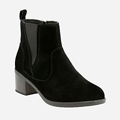 Nevella Bell Black Suede womens-ankle-boots