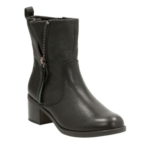 Nevella Devon Black Leather womens-midcalf-boots