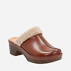 Preslet Grove Dark Tan Leather womens-clogs