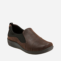 Sillian Paz Dark Brown Synthetic Nubuck womens-wide-width