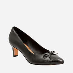 Crewso Calica Black Leather womens-heels