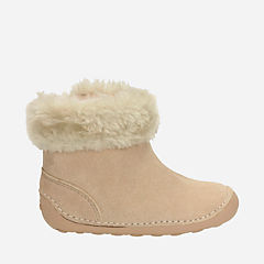 Little Bounce Baby Natural Suede girls-boots