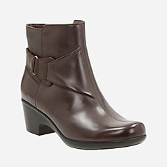 Malia Mccall Dark Brown Leather womens-ortholite