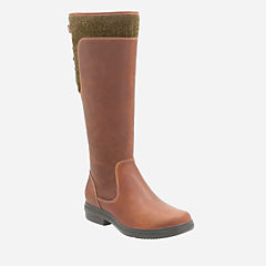 Tavoy Cedar Tan Leather womens-knee-boots