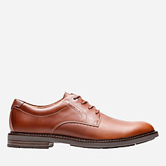 Unelott Plain Tan Leather mens-ortholite
