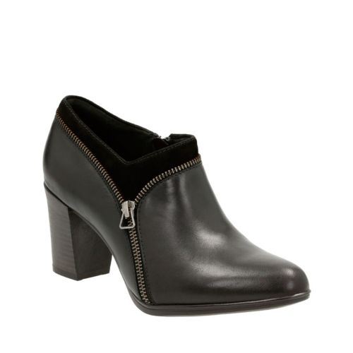Araya Morgan Black Leather and Suede Combo womens-boots