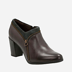 Araya Morgan Dark Grey Lea and Suede Combo womens-boots