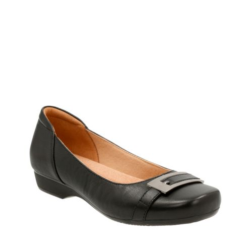 Blanche West Black Leather womens-flats