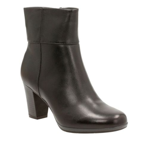 Kalea Lynn Black Leather womens-boots