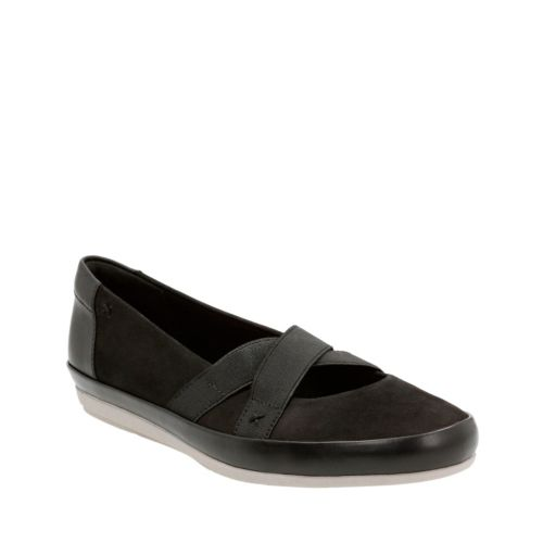 Lorry Lucent Black Nubuck and Leather Combo sale-womens
