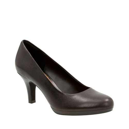 Brenna Maple Black Leather womens-wide-width
