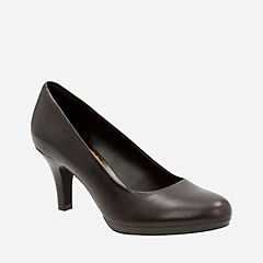 Brenna Maple Black Leather womens-heels