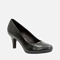 Brenna Maple Black Croc Leather womens-wide-width