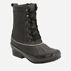 Carima Luna Black Leather/Textile Combo womens-midcalf-boots