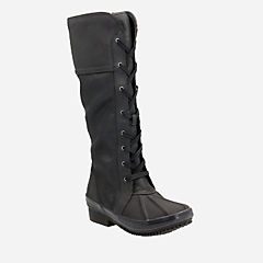 Carima Pluma Black Combi Leather womens-waterproof-boots