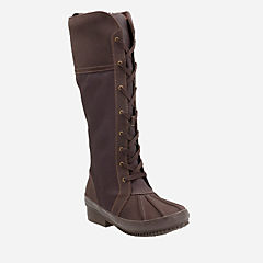 Carima Pluma Dark Brown Combi Leather womens-waterproof-boots