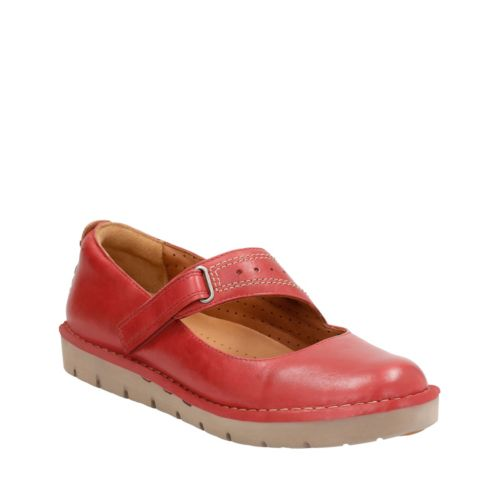 Un Briarcrest Red Leather womens-wide-width