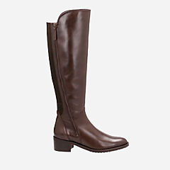 Valana Melrose Dark Brown Leather womens-knee-boots