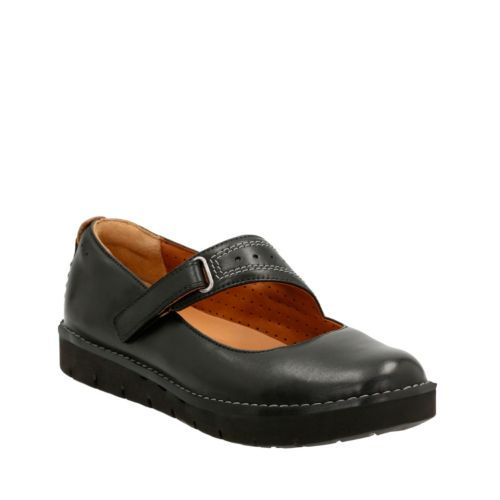 Un Briarcrest Black Leather womens-ortholite