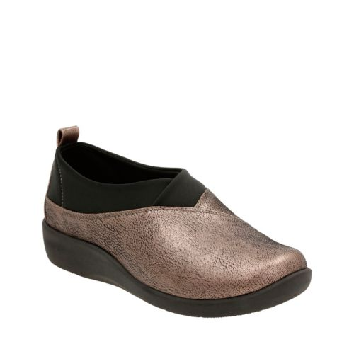 Sillian Greer Pewter Metallic Synth Nubuck womens-wide-width