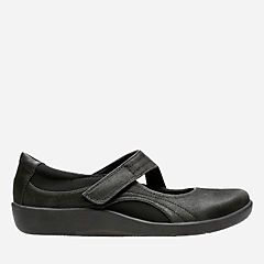 Sillian Bella Black Synthetic Nubuck womens-wide-width