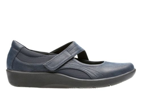 Sillian Bella Navy Synthetic Nubuck womens-casual-shoes