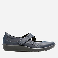 Sillian Bella Navy Synthetic Nubuck womens-wide-width