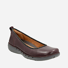 Un Elita Aubergine Leather womens-unstructured