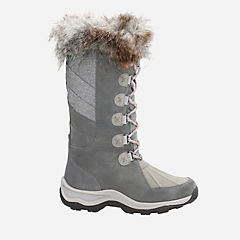 Wintry Hi Grey Suede womens-waterproof-boots
