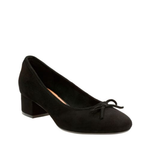 Cala Lucky Black Suede womens-wide-width