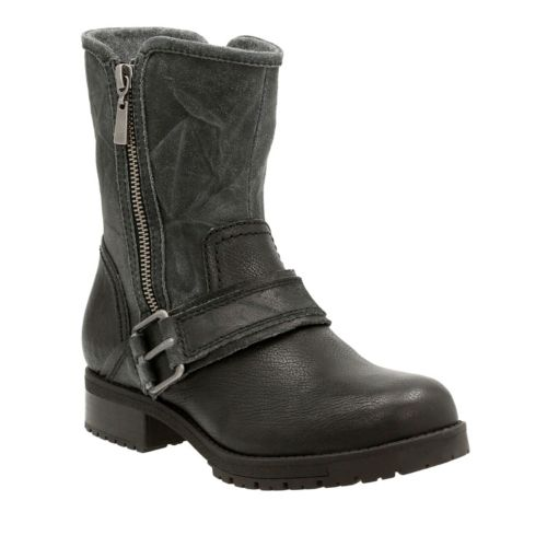 Faralyn Rise Black Nubuck womens-midcalf-boots