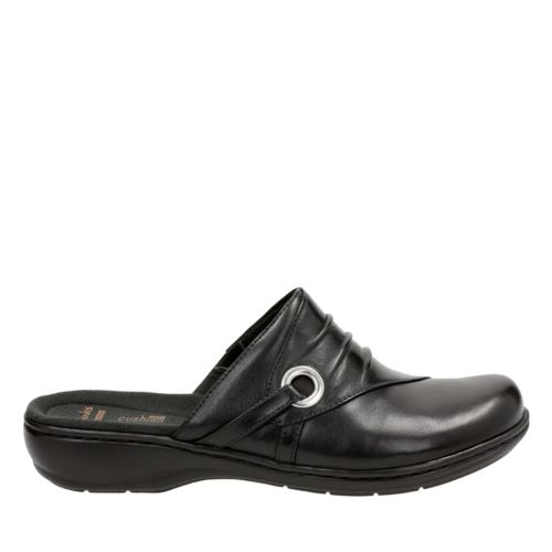 Leisa Bliss Black Leather womens-clogs