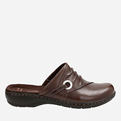 Leisa Bliss Dark Brown Leather womens-clogs