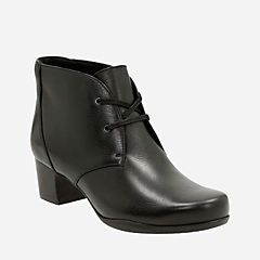 Rosalyn Lark Black Leather womens-narrow-width