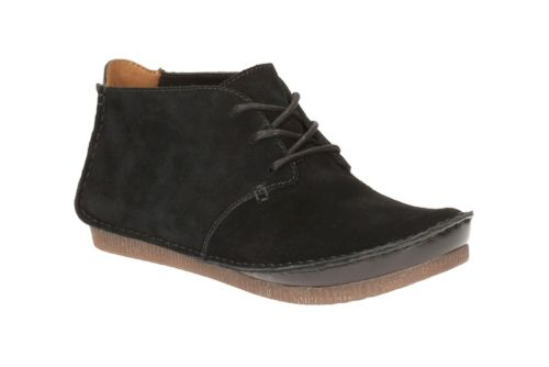 Janey Lynn Black Suede womens-casual-shoes