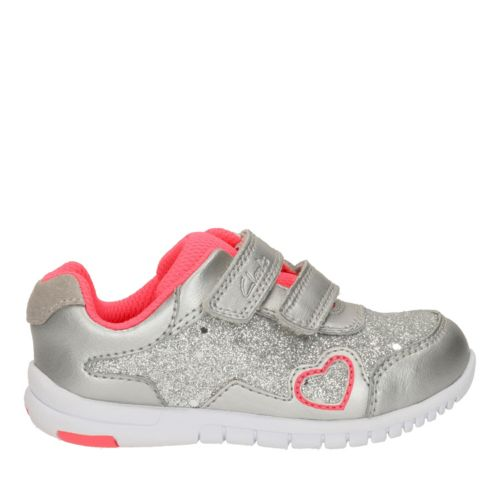 Azon Maze First  Silver Metallic Leather girls-sneakers