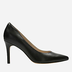 Dinah Keer Black Leather womens-heels