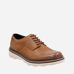 Frelan Lace Brown Leather mens-ortholite