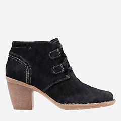 Carleta Lyon Navy Suede womens-ankle-boots
