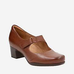 Rosalyn Wren Dark Tan Leather womens-heels