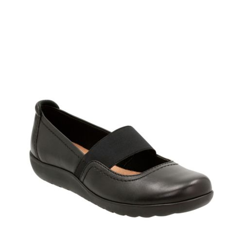 Medora Ally Black Leather womens-wide-width