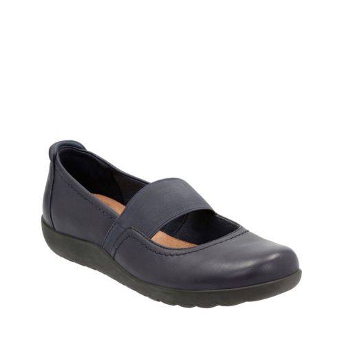 Medora Ally Navy Leather womens-wide-width