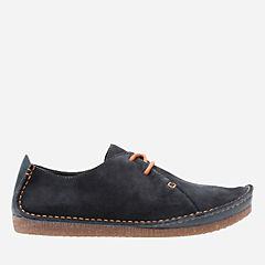 Janey Mae Navy Suede womens-casual-shoes