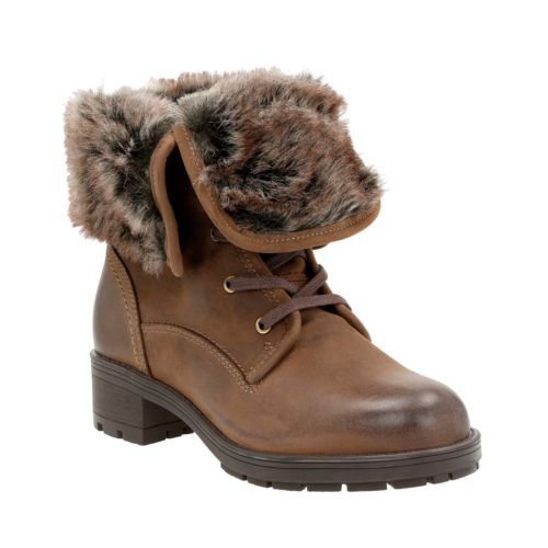 Reunite Up Gtx Brown Leather Waterproof Boots For Women
