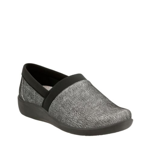 Sillian Blair Silver Synthetic Nubuck womens-wide-width