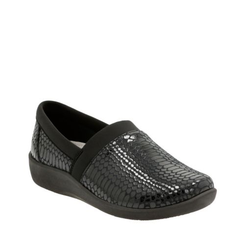 Sillian Blair Black Synthetic Snake womens-wide-width