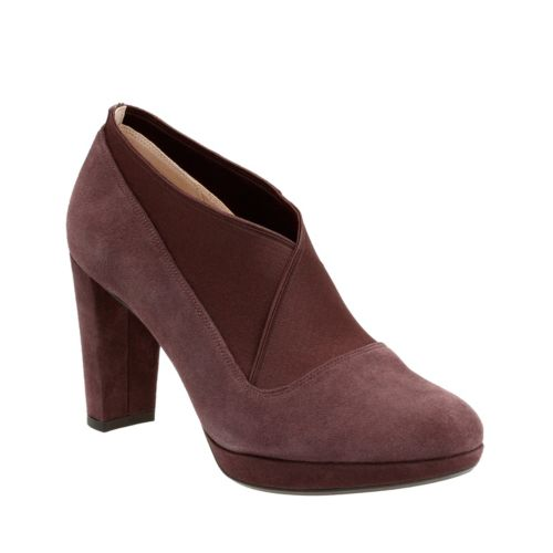 Kendra Mix Aubergine Suede womens-dress-shoes