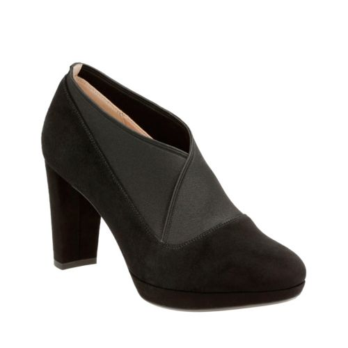 Kendra Mix Black Suede womens-dress-shoes