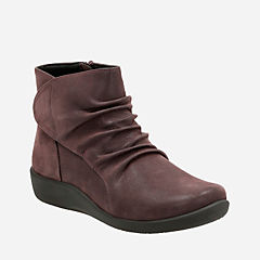 Sillian Chell Aubergine Synthetic Nubuck womens-wide-width