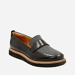 Glick Avalee Grey Textile/Blk Leather Combi womens-cushion-plus